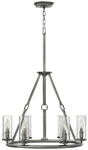 Żyrandol Dakota HK/DAKOTA6 Hinkley niklowana lampa w dekoracyjnym stylu
