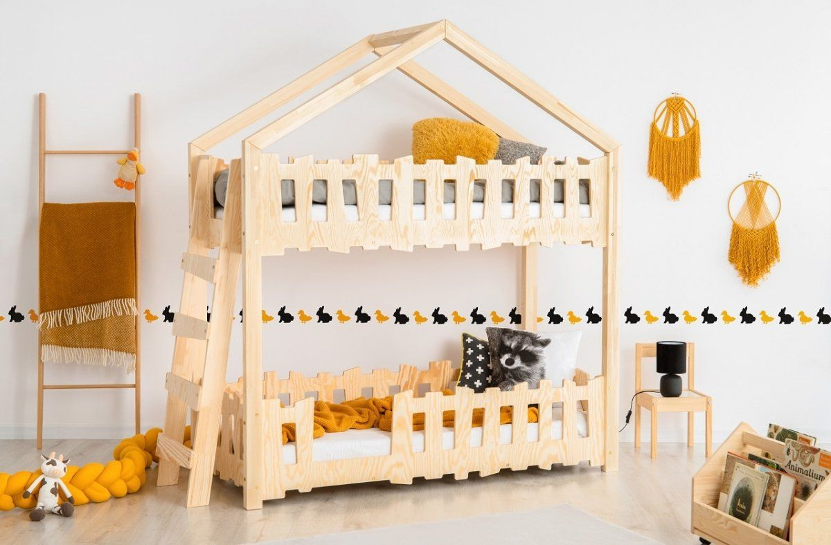 Łóżko piętrowe dla dzieci domek Luca
