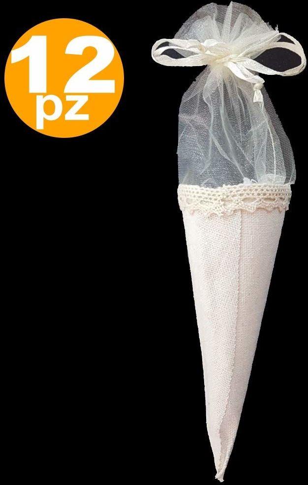 TrAdE shop Traesio Bombki z białego materiału na konfekcję