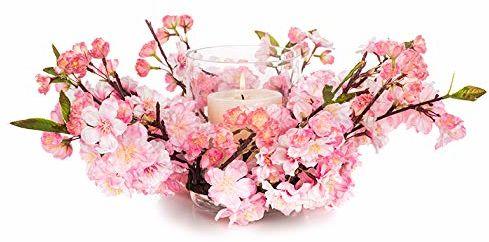 Eurocinsa Ref.89704C21 różowa świecznik wiśni, pudełko 1, 40 cm