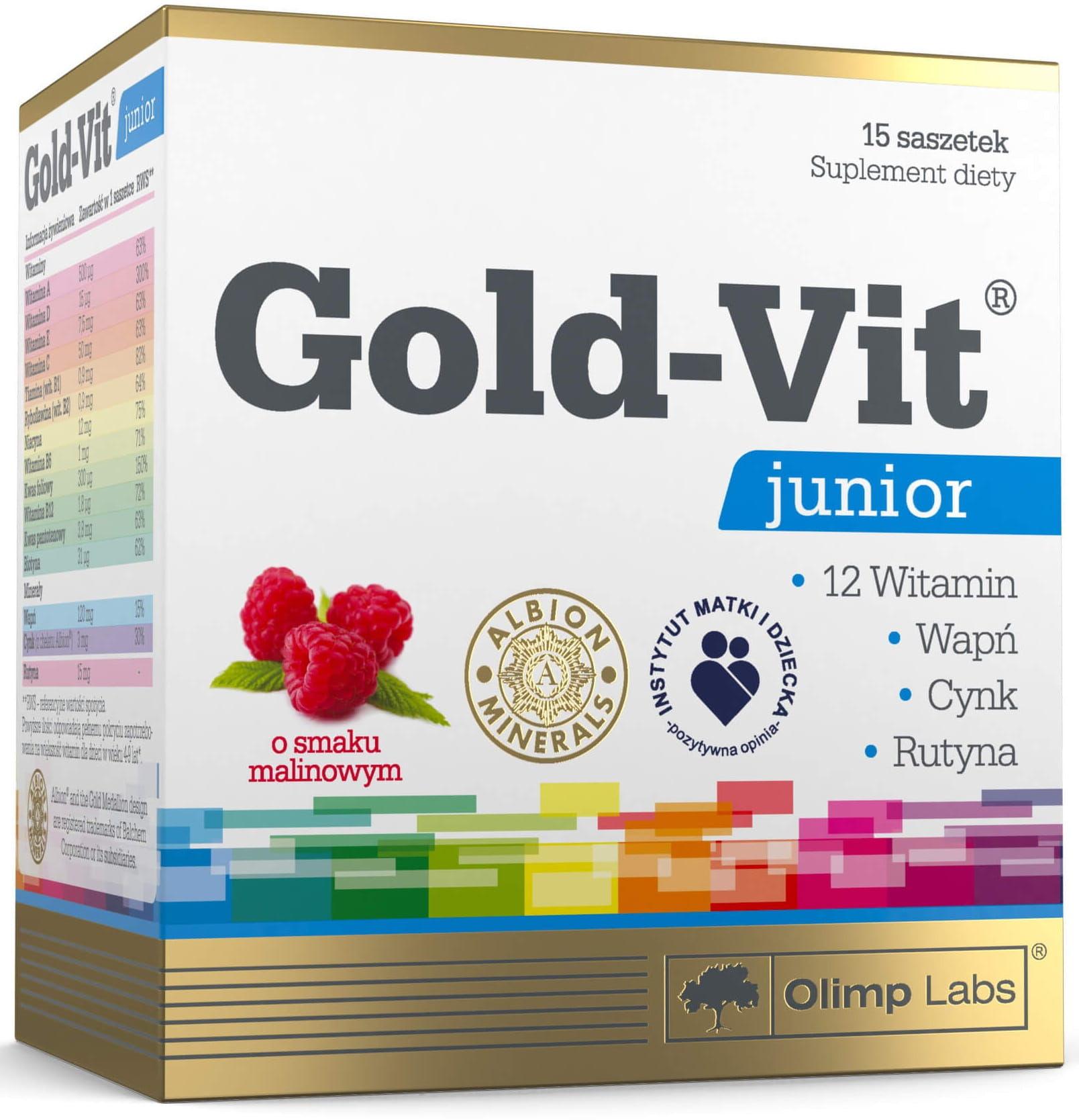 Gold-Vit C  Junior Smak Acerola Suplement Diety 15 Saszetek - Olimp Labs