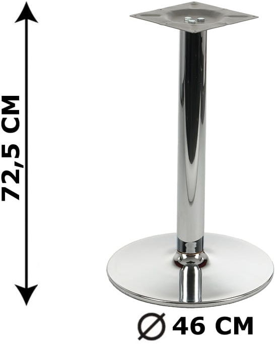Podstawa stolika NY-B005, chromowana, śr. Podstawy fi 46 cm (stelaż stolika, stołu)