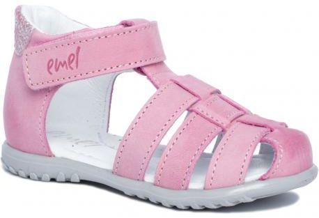 EMEL E1078 ROCZKI sandałki profilaktyczne różowe dziewczynki