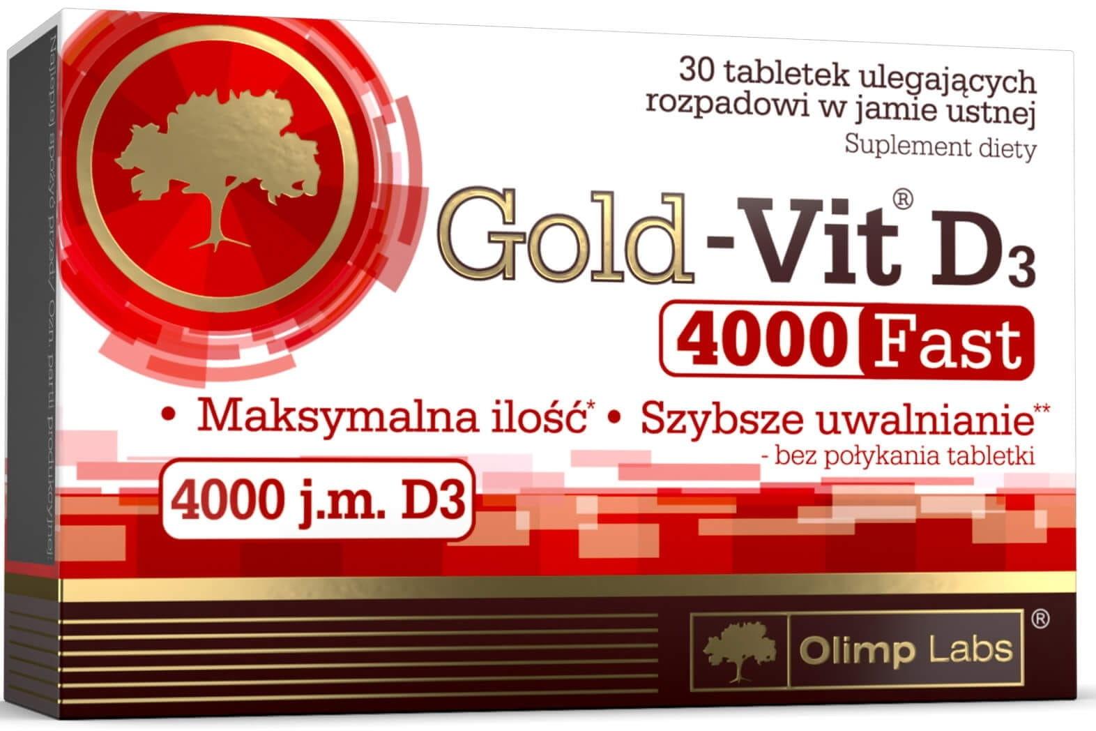 Gold-Vit D3 Fast 4000 IU Suplement Diety 30 Tabletek - Olimp Labs