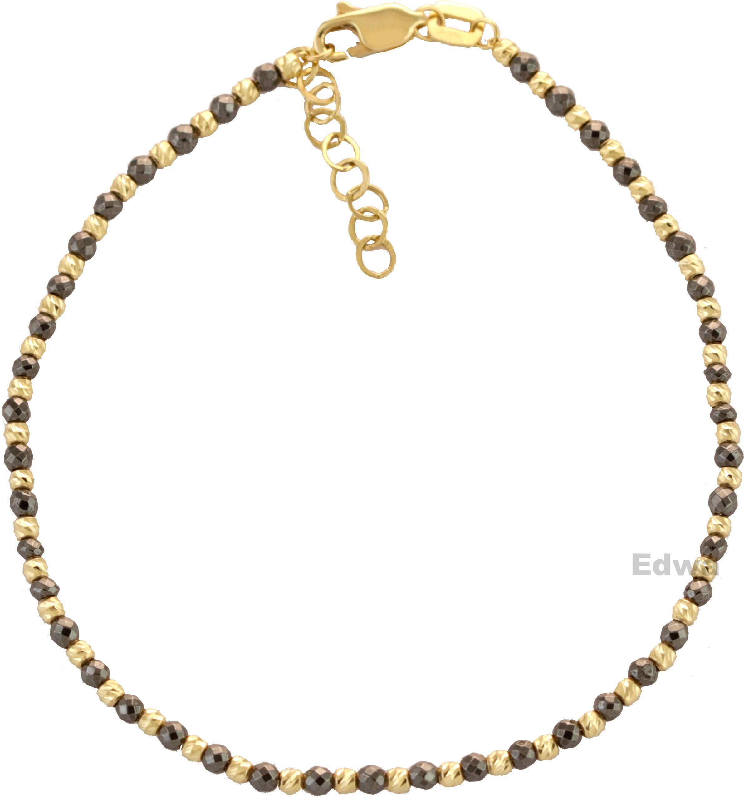 Bransoletka złota z koralikami pr.585