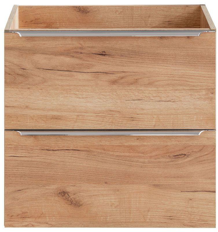 Podwieszana szafka łazienkowa pod umywalkę - Malta 3X Dąb 60 cm