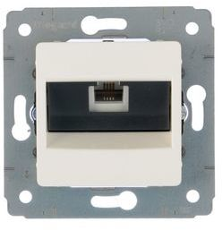 CARIVA Gniazdo telefoniczne pojedyncze RJ11 białe 773638
