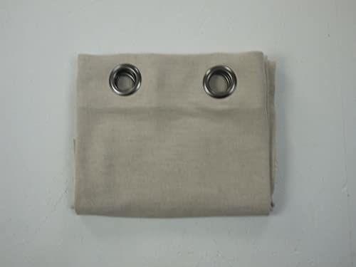 LINDER 0269/10/375 zasłona z 8 oczkami, okrągła, poliester/len, prana, 140 x 250 cm, beżowa/kolor naturalny, 140 x 250