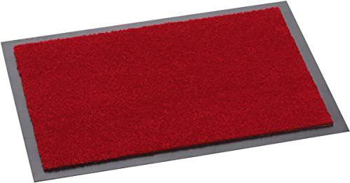 HMT 5540126090 wycieraczka z polipropylenu, kolor czerwony, 90 x 60 x 0,5 cm
