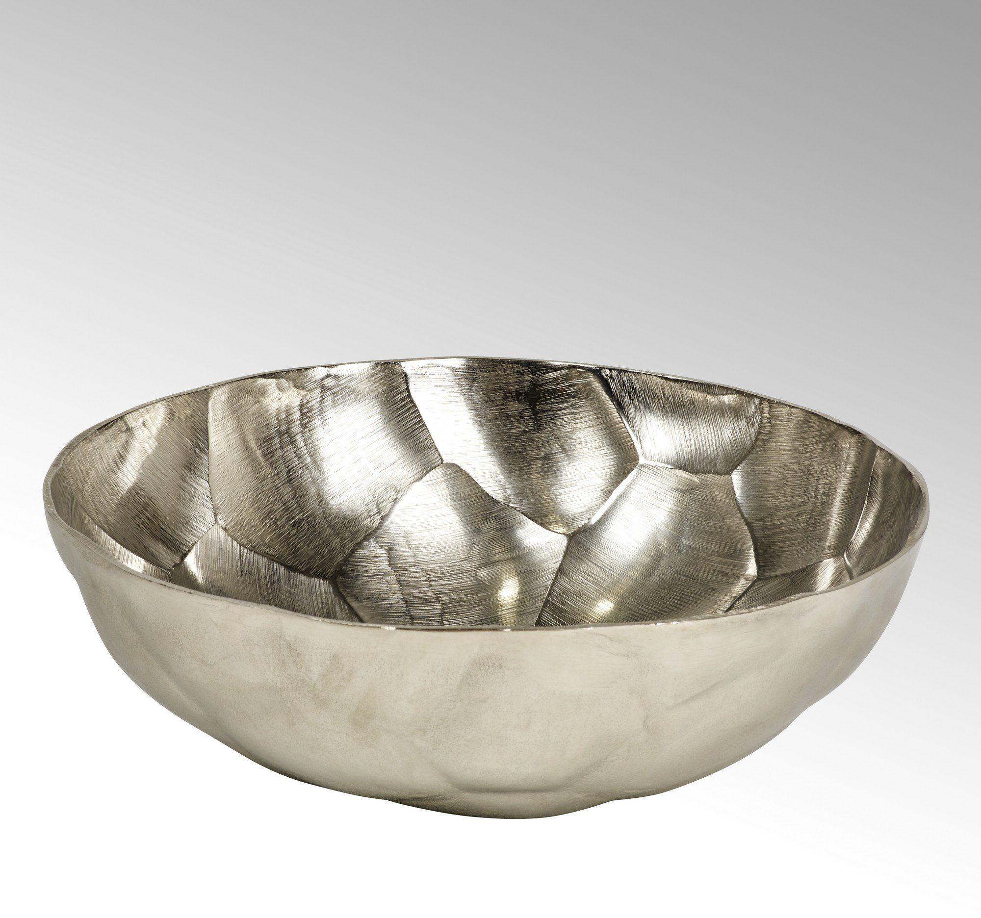 Lambert Nyima miska o wyglądzie diamentu, okrągła, duża, niklowana, srebrna, jeden rozmiar