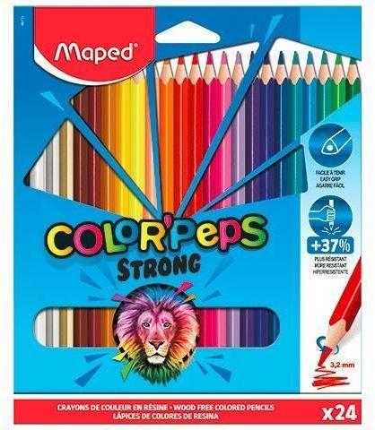 Kredki Colorpeps Strong trójkątne 24 kolory - Maped