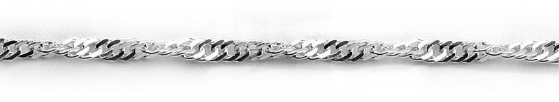 Staviori łańcuszek singapur srebro 0,925. szerokość 3 mm.