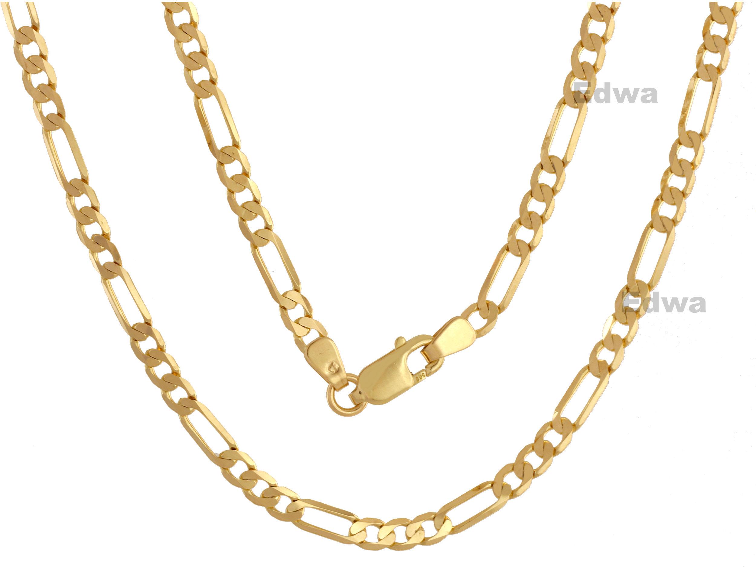 Łańcuszek złoty Figaro pr.585. 50 cm