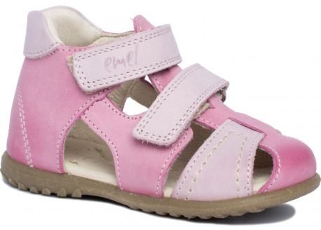 EMEL E2437-17 sandałki profilaktyczne ROCZKI dla dziewczynek różowe