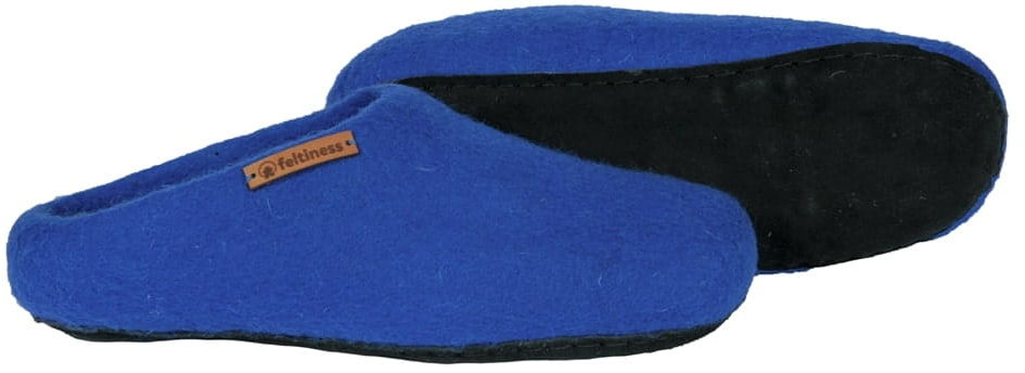 Paputy Niebieskie z podeszwą - kapcie wełniane