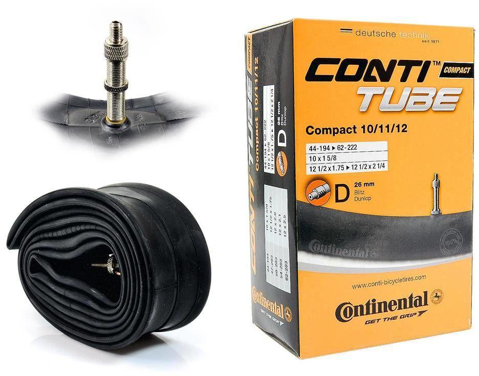 Dętka Continental Compact 10/11/12'' x 1,75'' - 2,5'' wentyl dunlop 26 mm