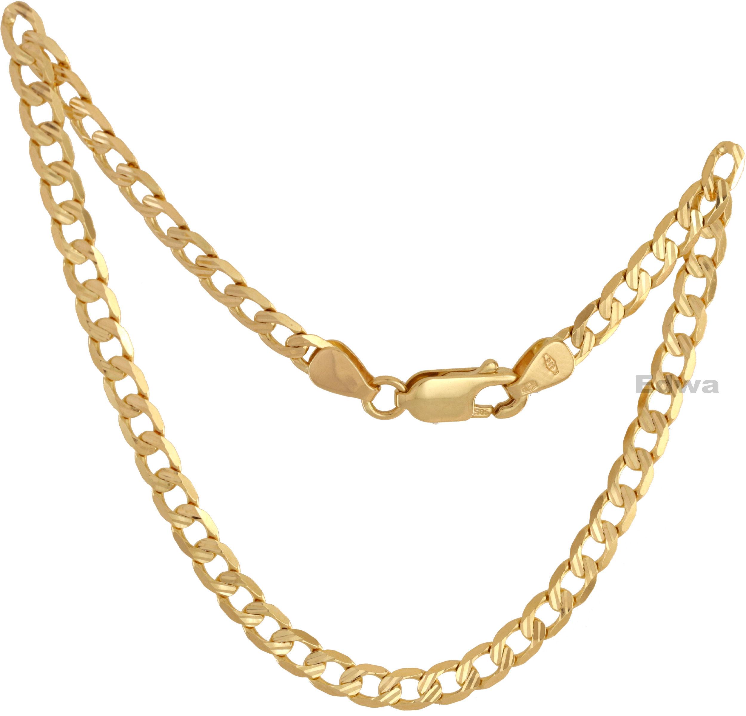 Bransoletka złota pancerka z grawerem pr.585. 21 cm