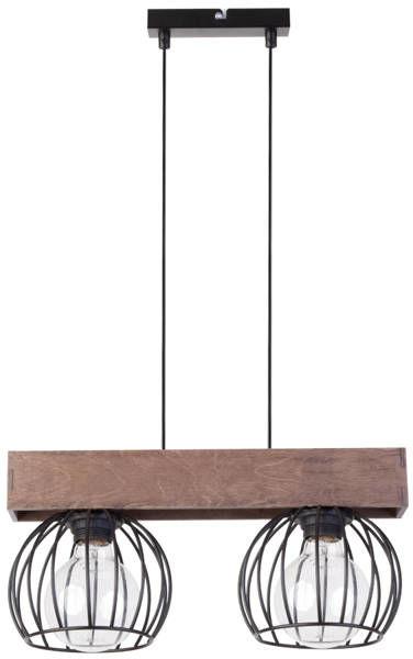 Lampa sufitowa wisząca MILAN 2 ZWIS brązowy 31572