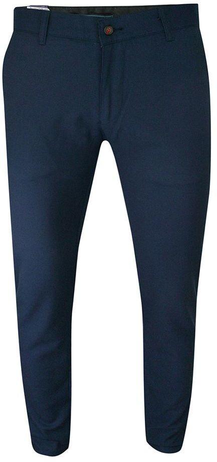 Spodnie Eleganckie, Granatowe, Granatowe, Zwężane, CHINOSY, Męskie -TOMY WALKER SPTWKRde5920granat
