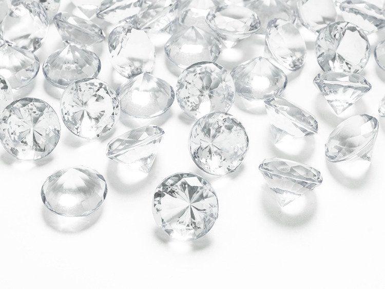 Diamentowe konfetti 20mm bezbarwne 10 sztuk ADC20-099