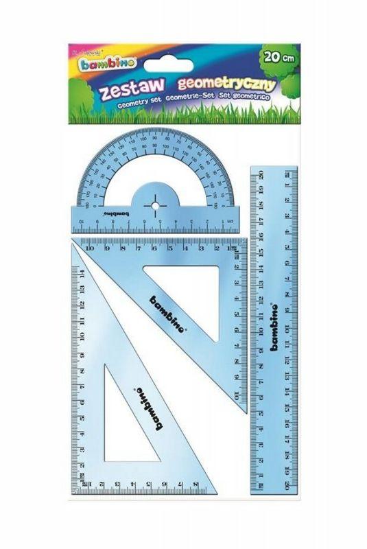 Zestaw geometryczny 4 elementy, 15 cm BAMBINO 628573