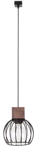 Lampa sufitowa wisząca MILAN 1 ZWIS brązowy 31570