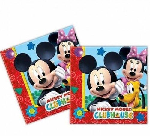 Serwetki papierowe Myszka Miki, Mickey Mouse (20 szt)