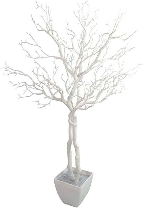 Leaf 95 cm luksusowe sztuczne białe drzewo życzeń roślina manzanita