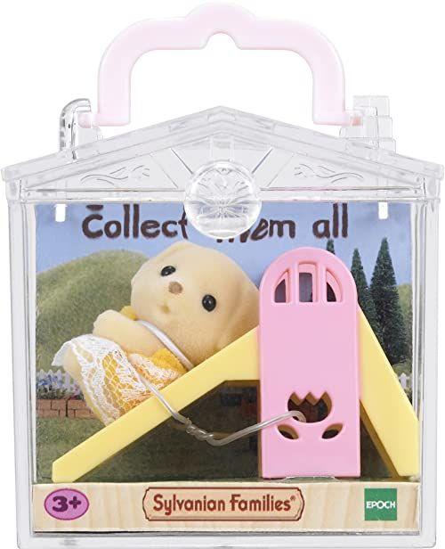 Sylvanian Families 5204 Przenośny zestaw dla dziecka (piesek na zjeżdżalni)