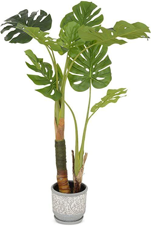 MULTI CASA MEX CH10801593 PHILODENDRON H.120 sztuczne drzewko doniczkowe, zielone, tworzywo sztuczne, poliester, bardzo szerokie
