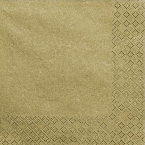 Serwetki papierowe, złote metaliczne