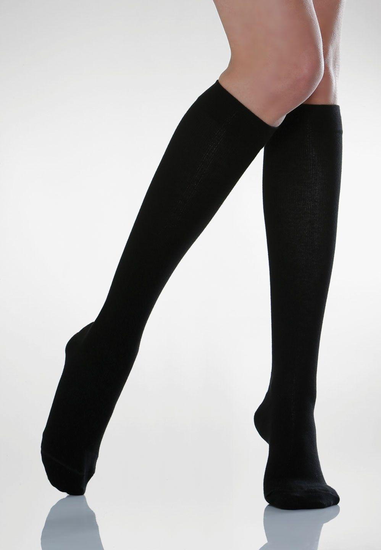 Podkolanówki uciskowe bawełniane męskie Cotton Socks 820 : kolor - czarne