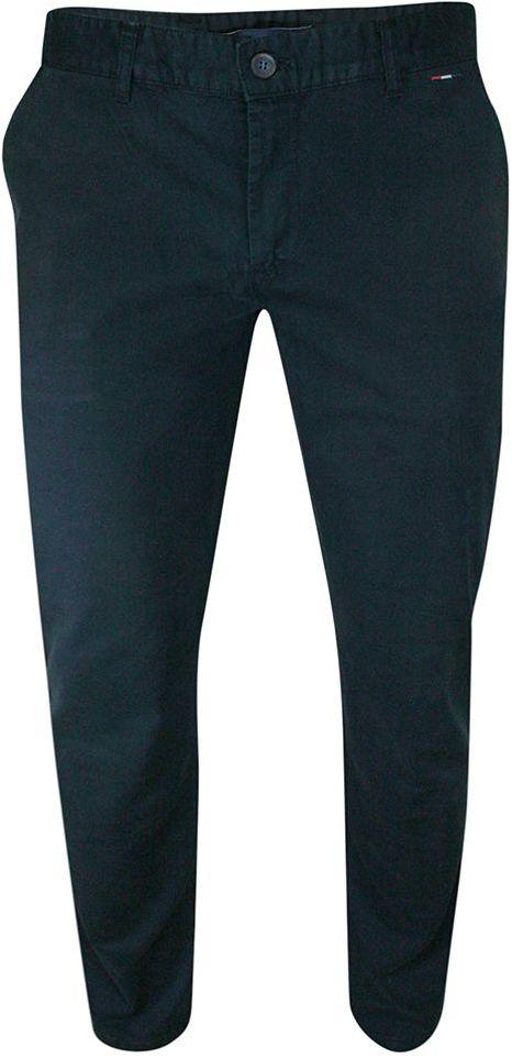 Spodnie Granatowe Casualowe, Męskie, Zwężane, Bawełniane -RIGON SPRGNTITANIC29543ciemgr