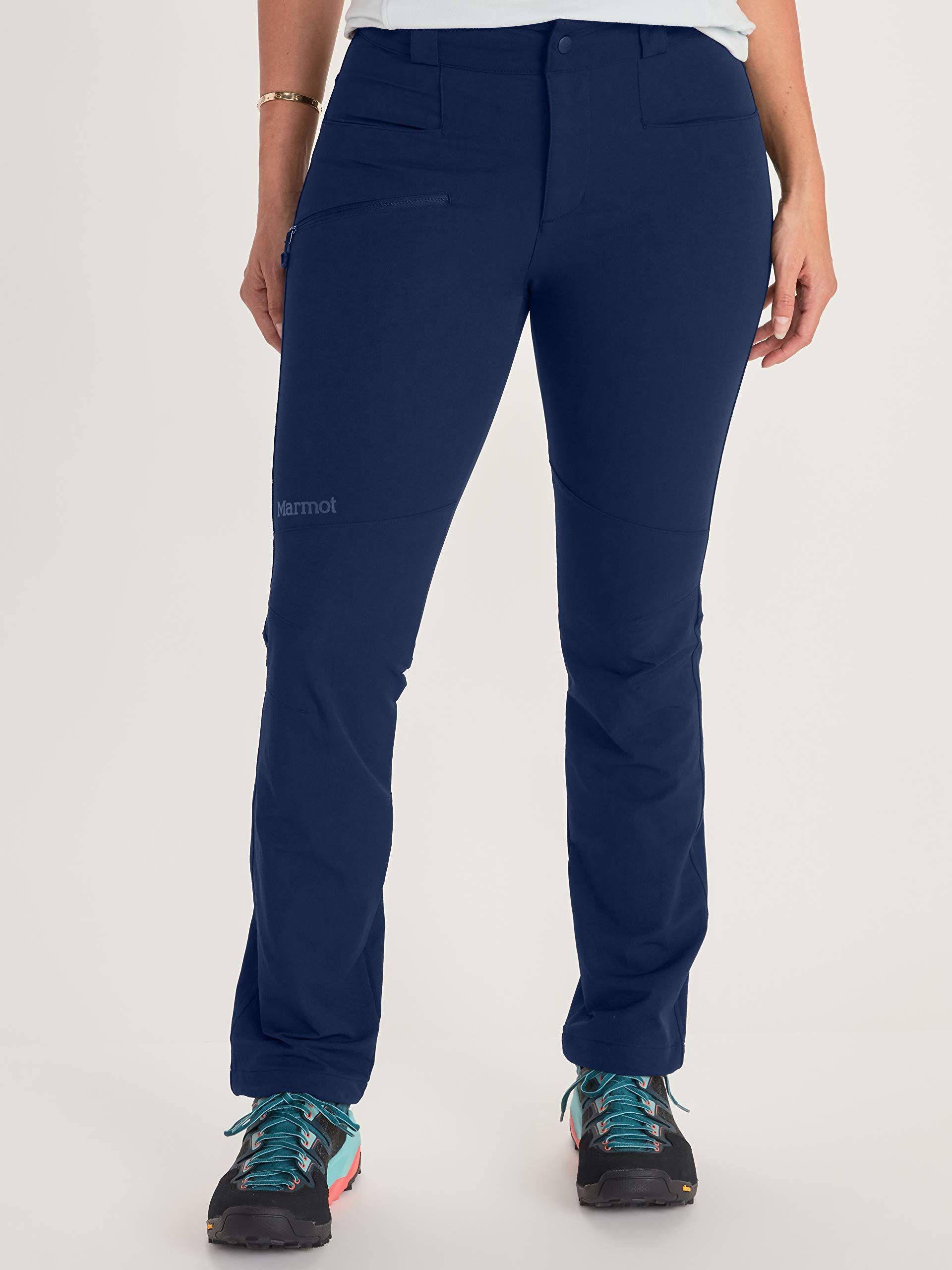 Marmot Damskie spodnie trekkingowe, softshell, spodnie funkcyjne, odporne na działanie wody niebieski granatowy (Arctic Navy) 06