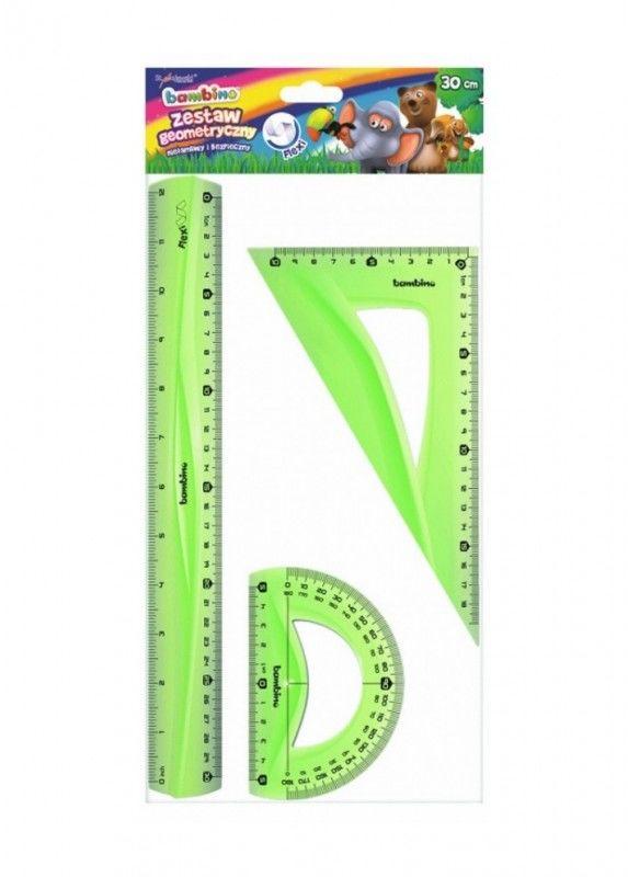Zestaw geometryczny 3 elementy, flexi, 30 cm BAMBINO 5003158