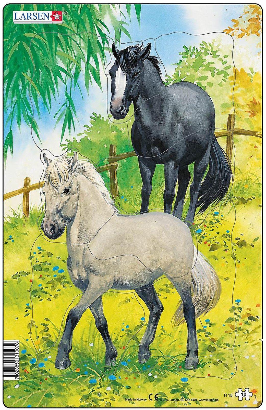 Larsen H15 zestaw puzzli dla koni, niebieski, 80 x 400 x 7,8 mm