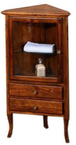 Retro szafka narożna 60x120x47cm buk,lewa