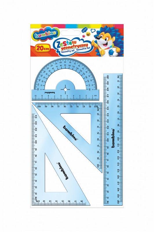 Zestaw geometryczny 4 elementy, 20 cm BAMBINO 628580