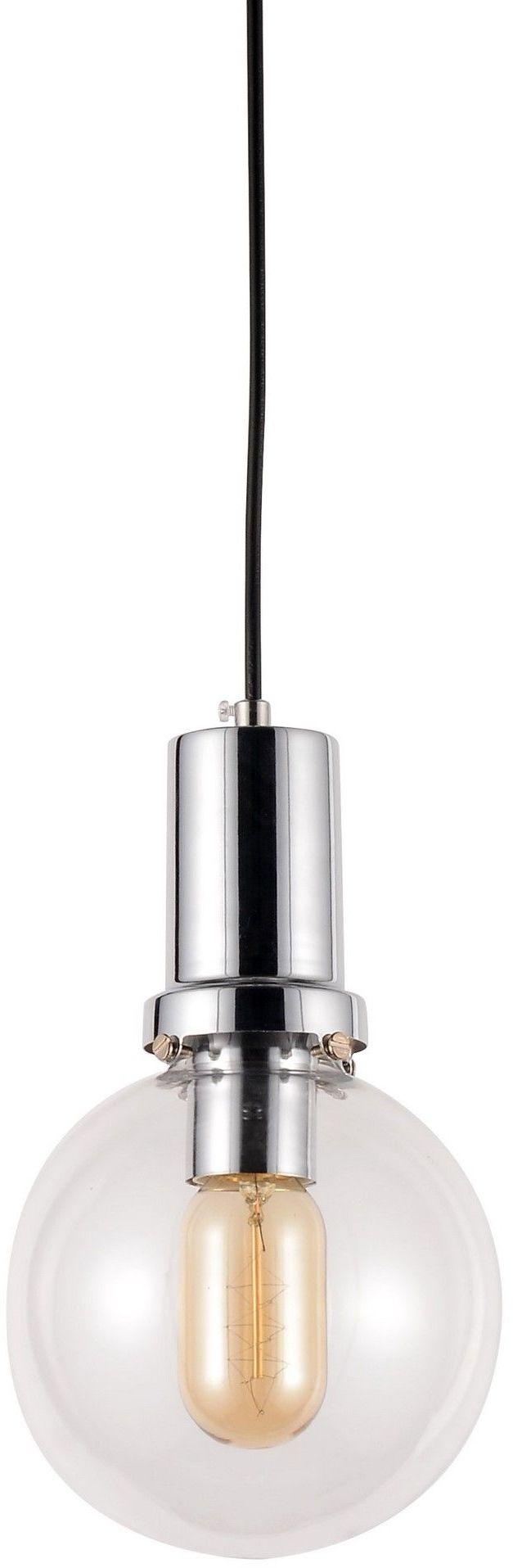 NOWOCZESNA LAMPA WISZĄCA PRZEZROCZYSTO-CHROMOWA DORITO D15