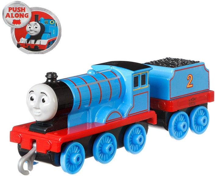 Fisher-Price - Track Master Edward lokomotywka z wagonikiem Popchnij i jedź GDJ57