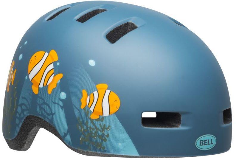BELL LIL RIPPER Kask rowerowy dziecięcy clown fish matte gray blue Rozmiar: 45-52,ripperclownfish