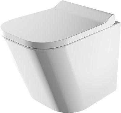 Miska WC rimless 51,5x35,5x36,5 cm+Deska wolnoopadająca z duroplastu, biały połysk