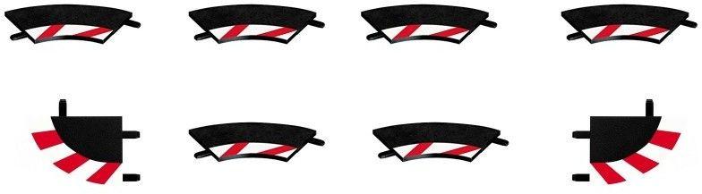 Carrera EVO / DIGITAL 132 /124 - Wewnętrzne poszerzenie toru zakręt pochyły 2/30 20591