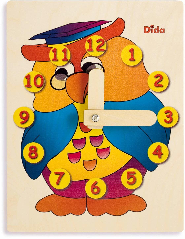 Dida - Zegarek do nauki dzieci - sowa - ręczny zegarek pozwalający na naukę czytania godziny.