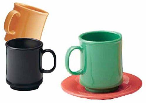 Kubek do kawy 240 ml Ø 8 x 9 cm żółta melamina - 12 jednostek