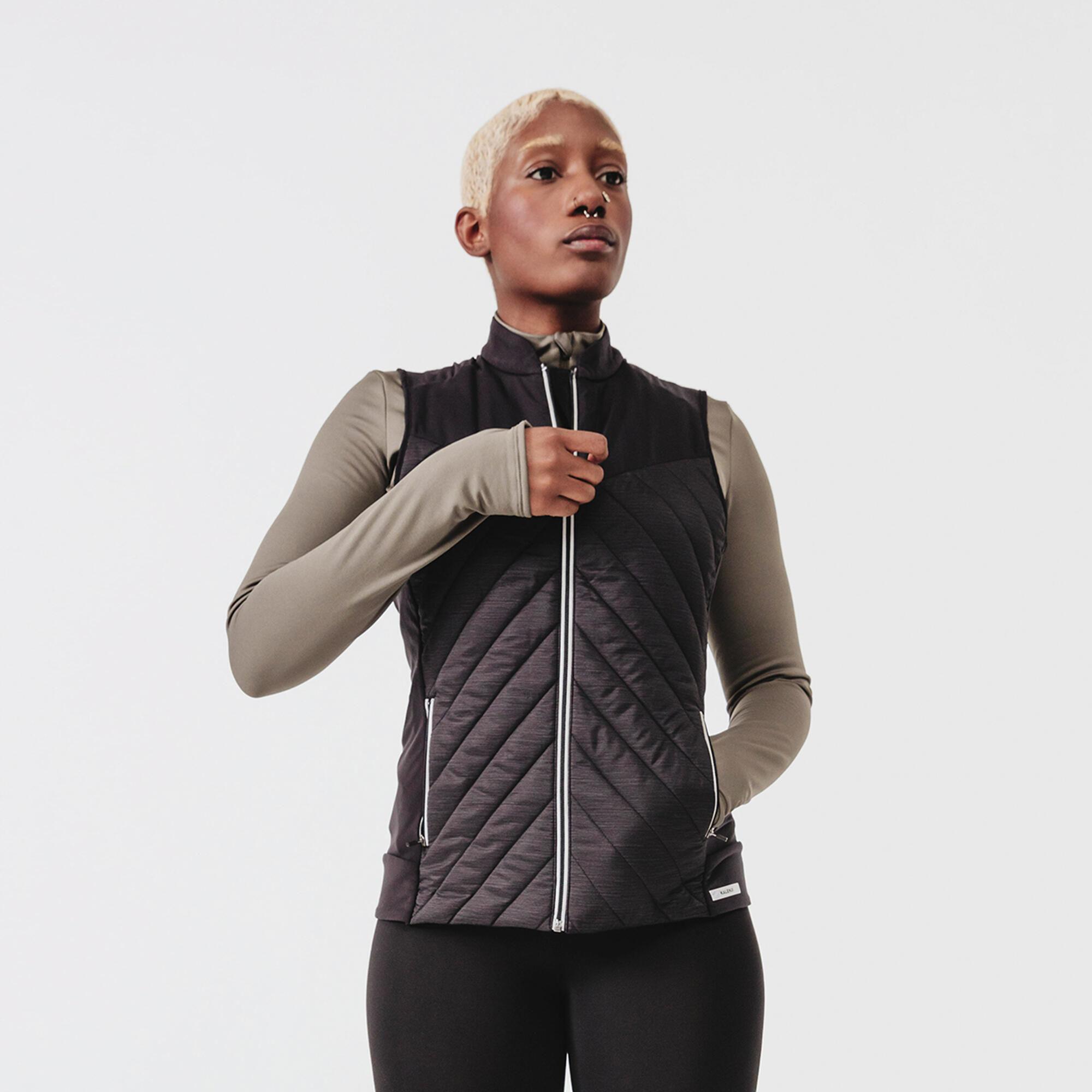 Kamizelka do biegania damska Kalenji Run Warm ocieplana