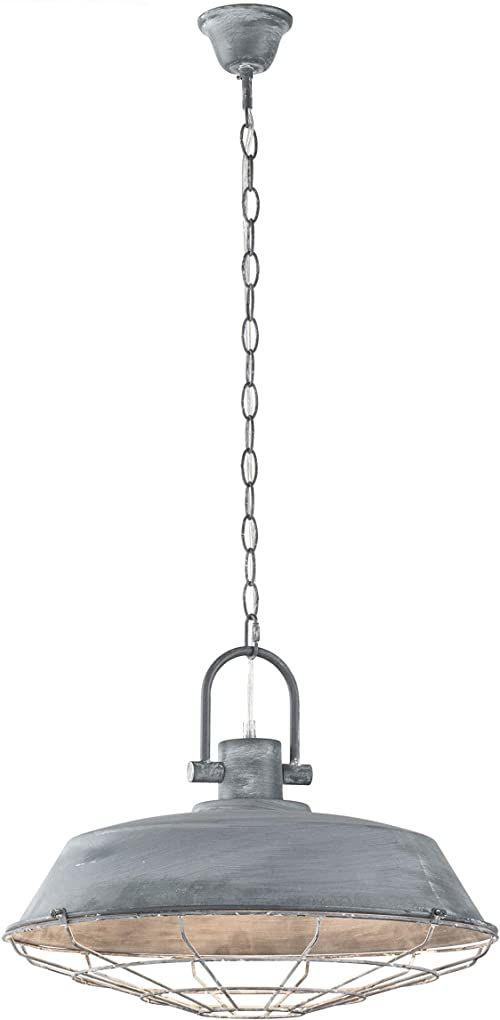 Fischer&Honsel Evan lampa wisząca, metal, 60 W, kolor betonowy