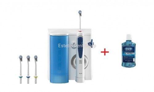 Oral-B Professional Care OxyJet MD20 Irygator z 4 końcówkami i płynem do płukania ust Oral-B Clinic Line 500ml
