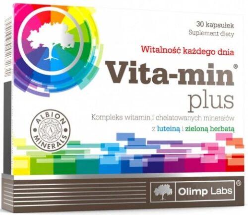 Vita-Min  Plus Zielona Herbata i Luteina Suplement Diety 30 Kapsułek - Olimp Labs