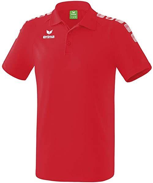 ERIMA dziecięca koszulka polo 5-C, czerwona/biała, rozmiar: 128
